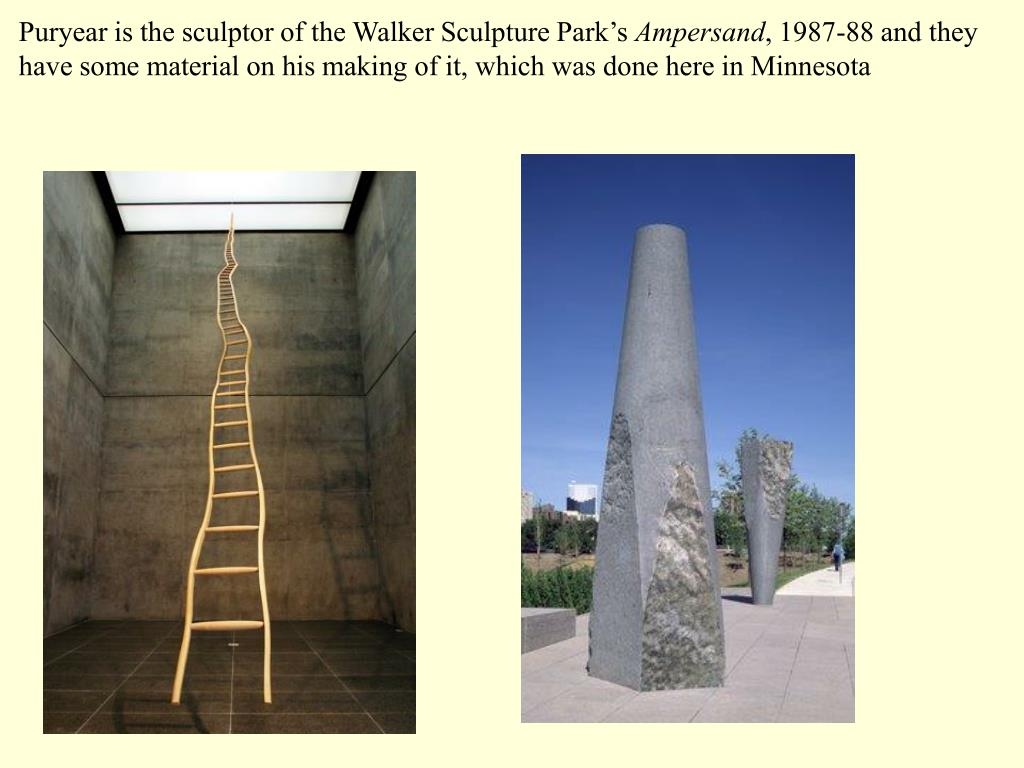 Puryear is the sculptor of the Walker Sculpture Park's