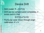 device drift