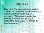 difficulties