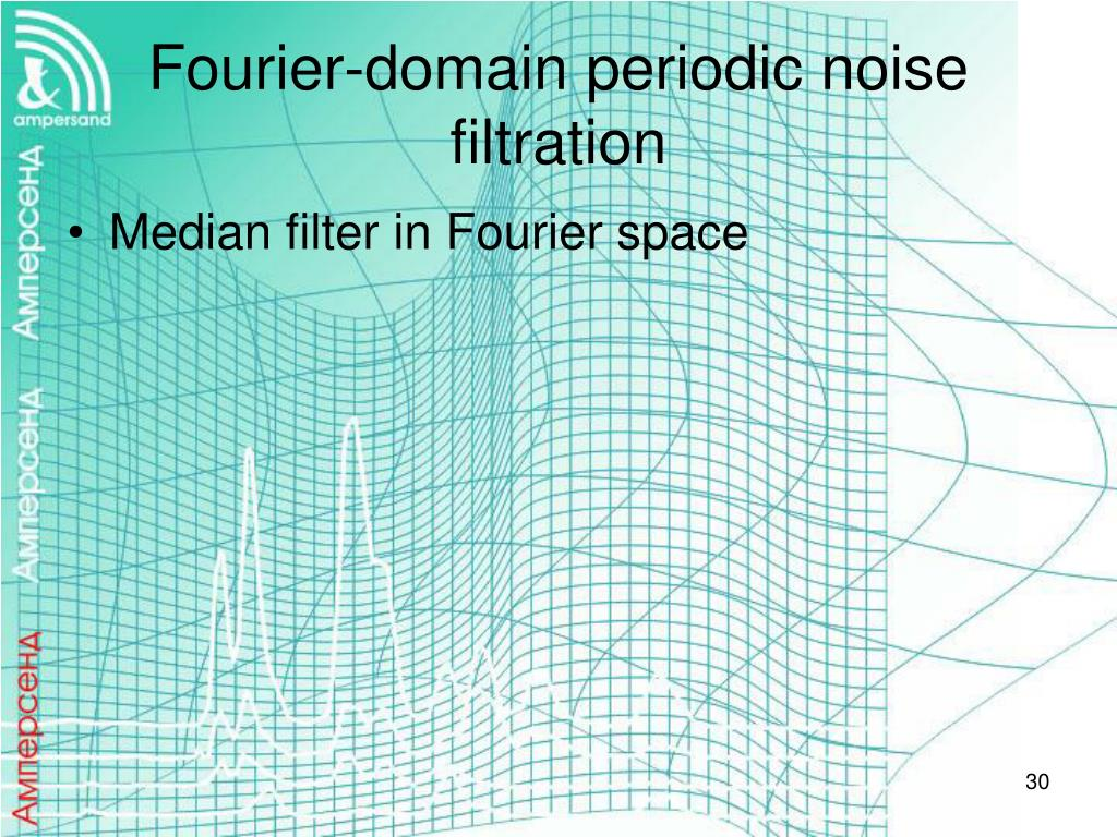 Fourier-domain periodic noise filtration