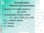 quantification absolute concentration