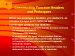 constructing function headers and prototypes24