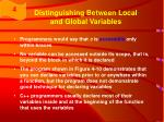 distinguishing between local and global variables17