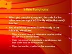 inline functions61