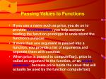 passing values to functions33