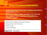 using procedural abstraction10