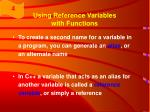 using reference variables with functions