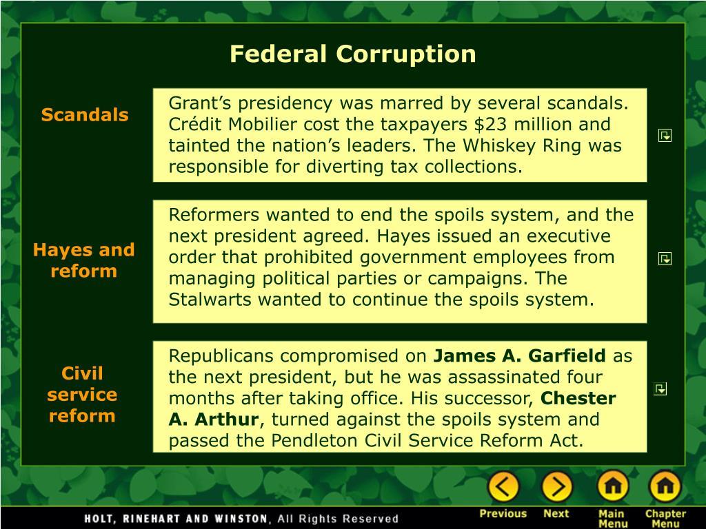 Federal Corruption