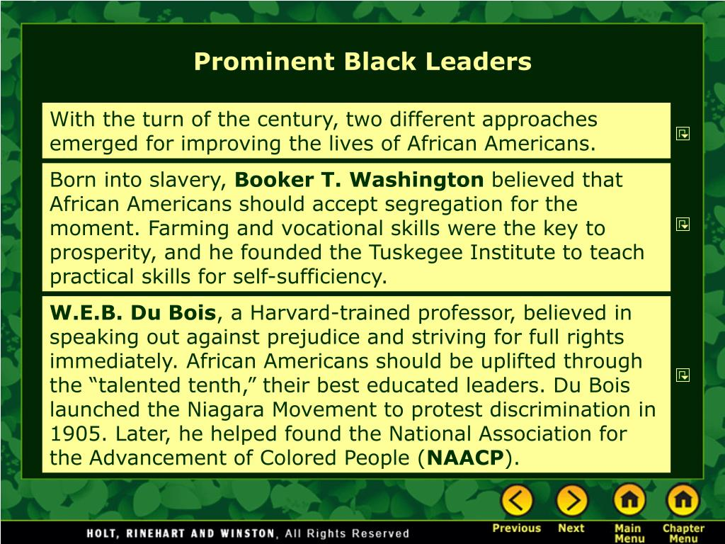 Prominent Black Leaders
