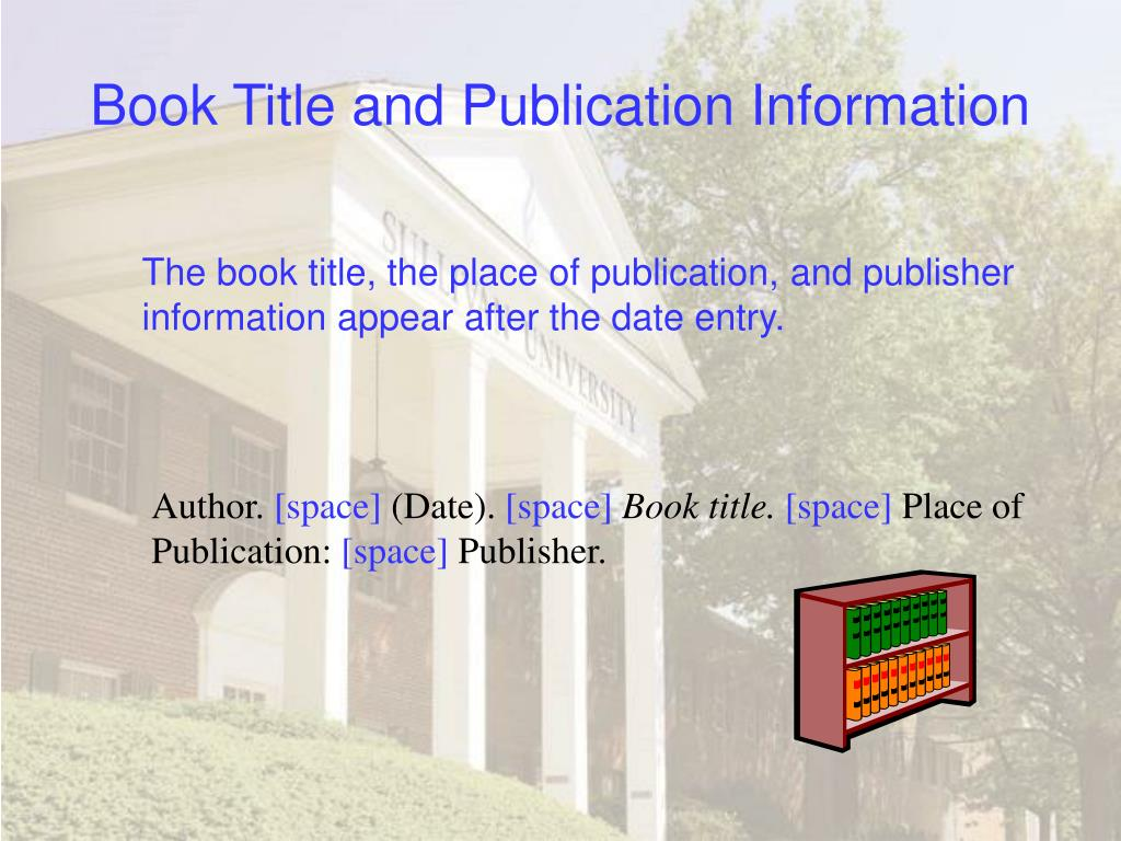 Book Title and Publication Information