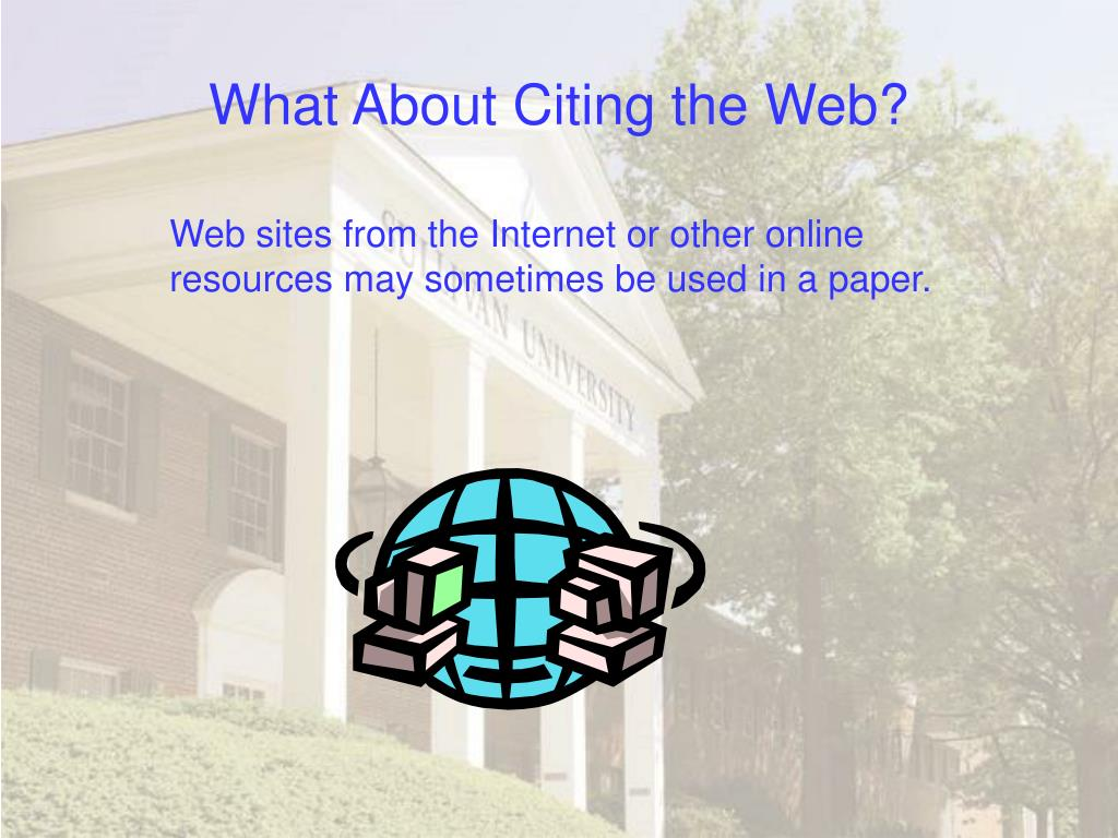 What About Citing the Web?