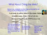 what about citing the web21