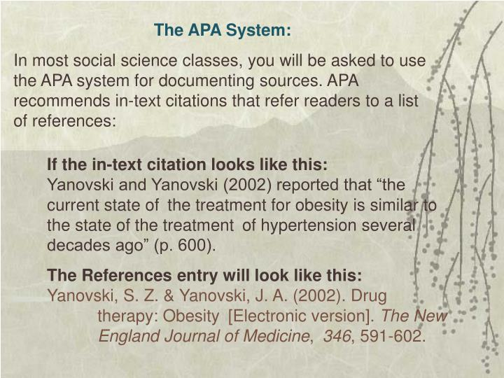 The APA System:
