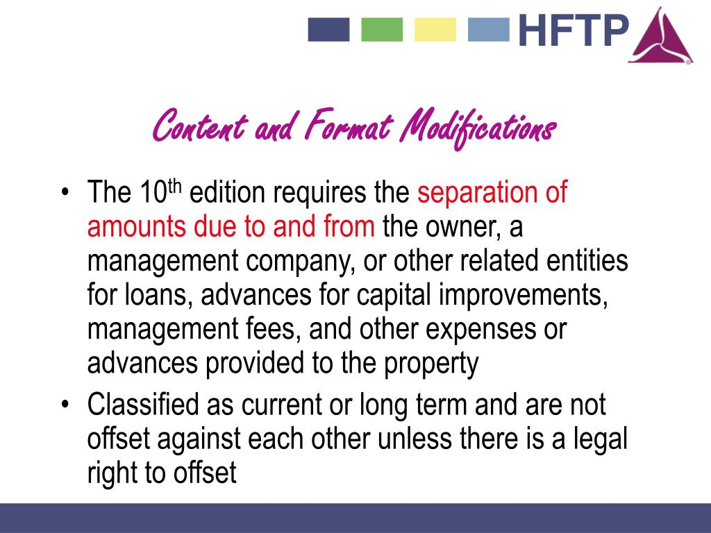 Content and Format Modifications