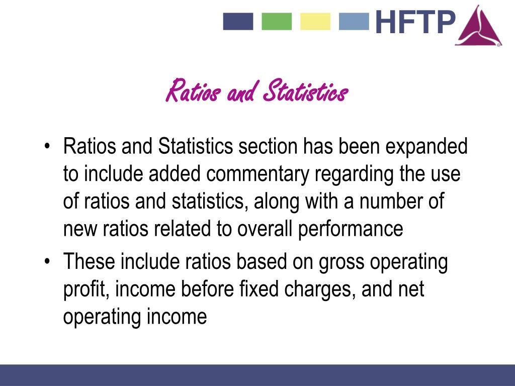 Ratios and Statistics