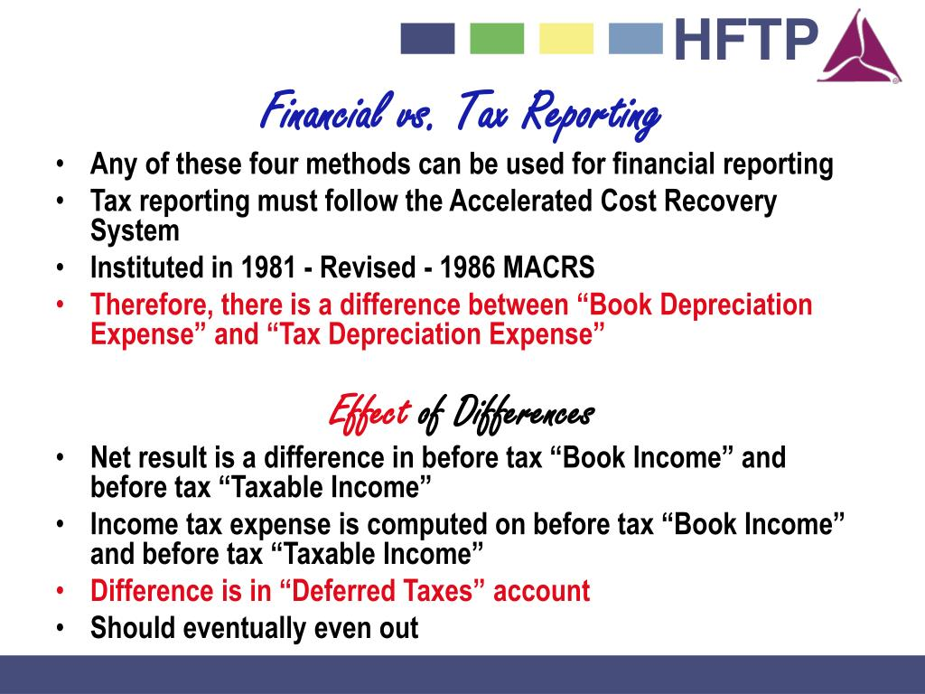 Financial vs. Tax Reporting