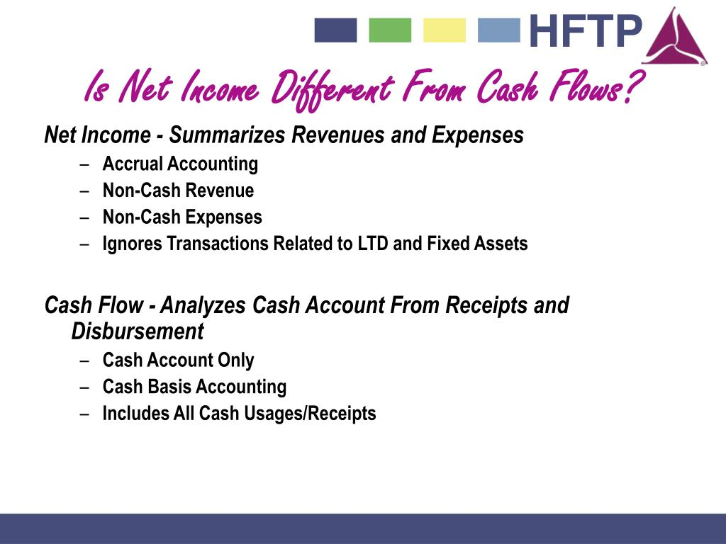 Is Net Income Different From Cash Flows?