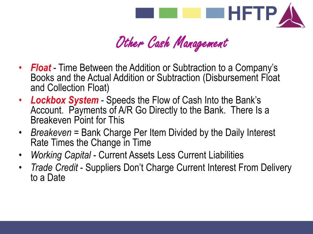Other Cash Management