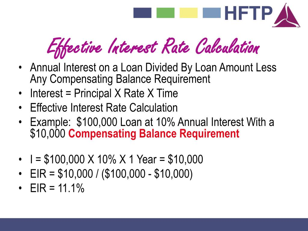Effective Interest Rate Calculation