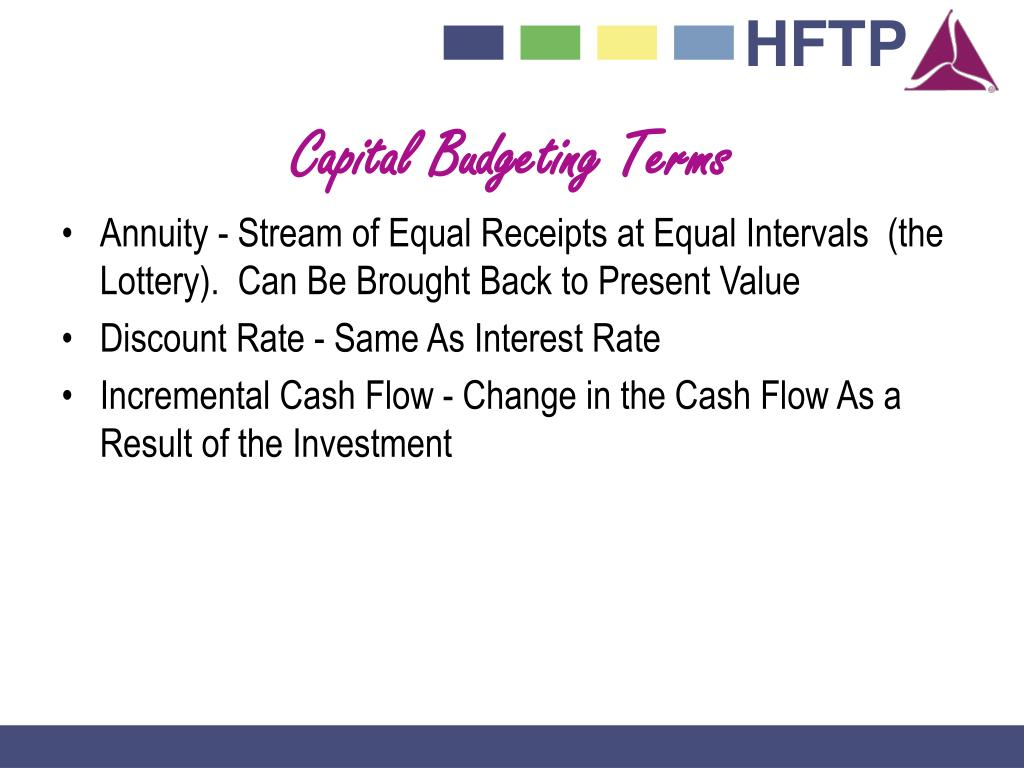 Capital Budgeting Terms