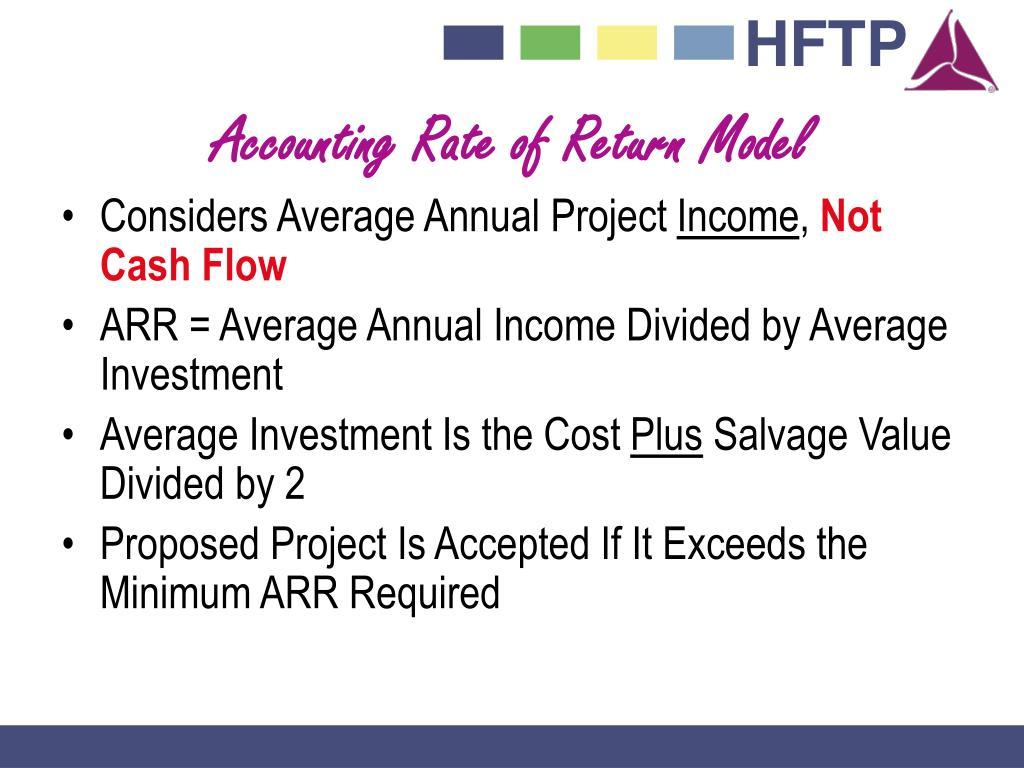 Accounting Rate of Return Model