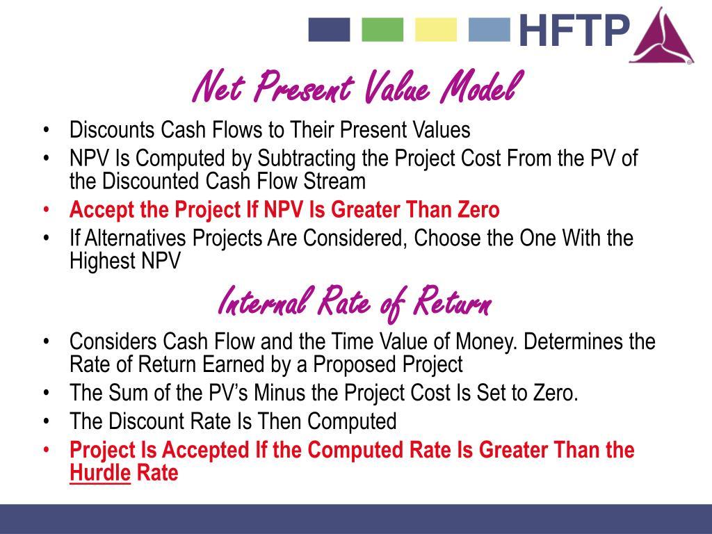 Net Present Value Model