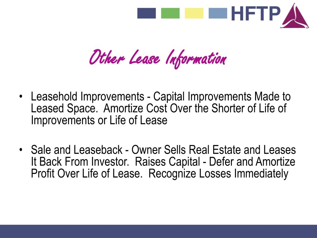 Other Lease Information