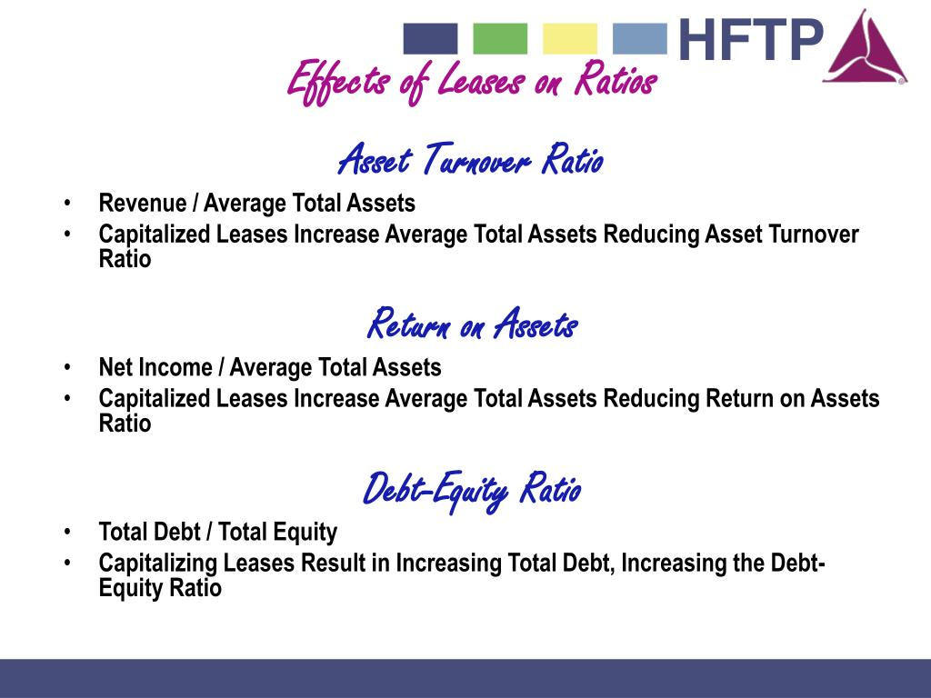 Effects of Leases on Ratios