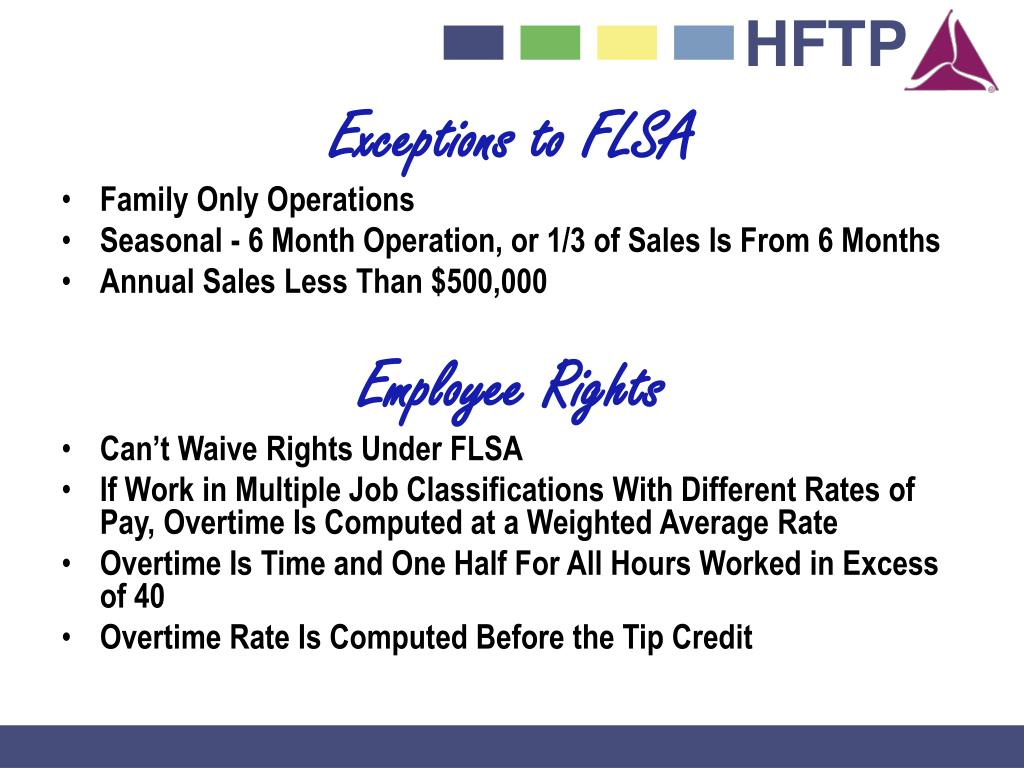 Exceptions to FLSA