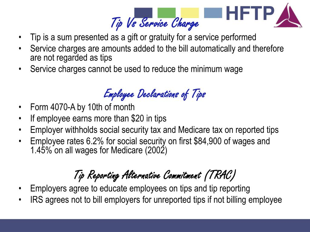 Tip Vs Service Charge