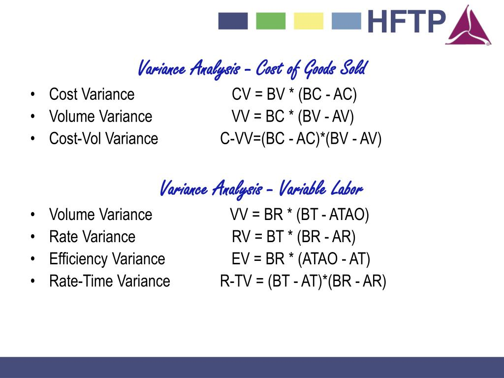 Variance Analysis - Cost of Goods Sold