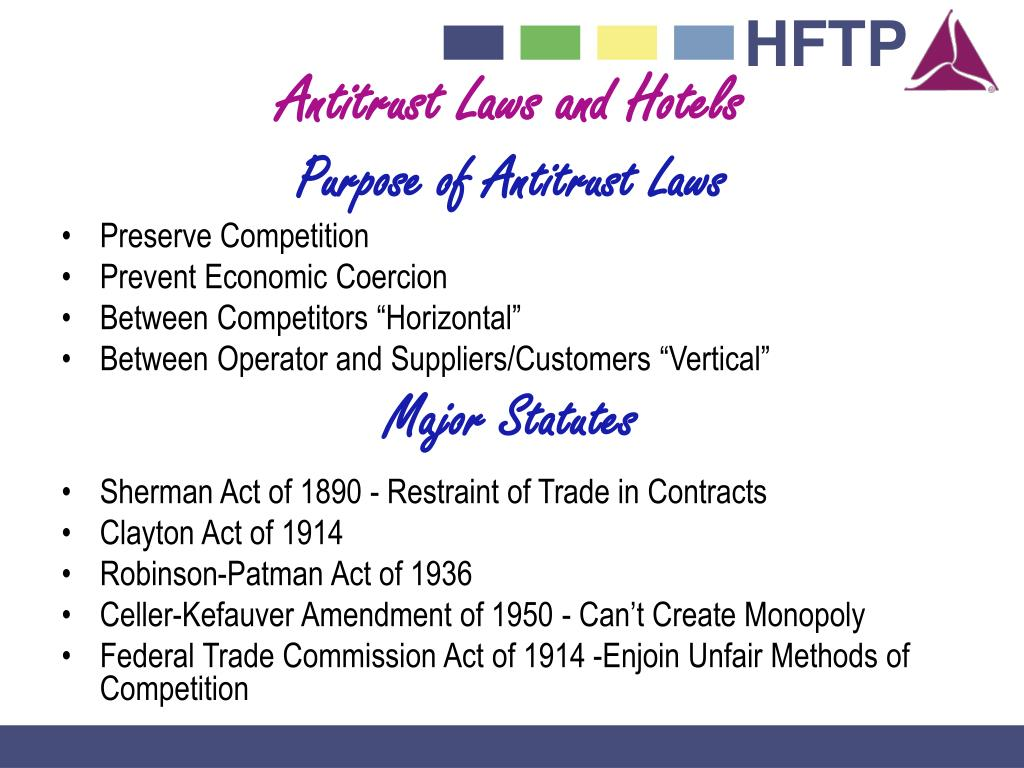 Antitrust Laws and Hotels
