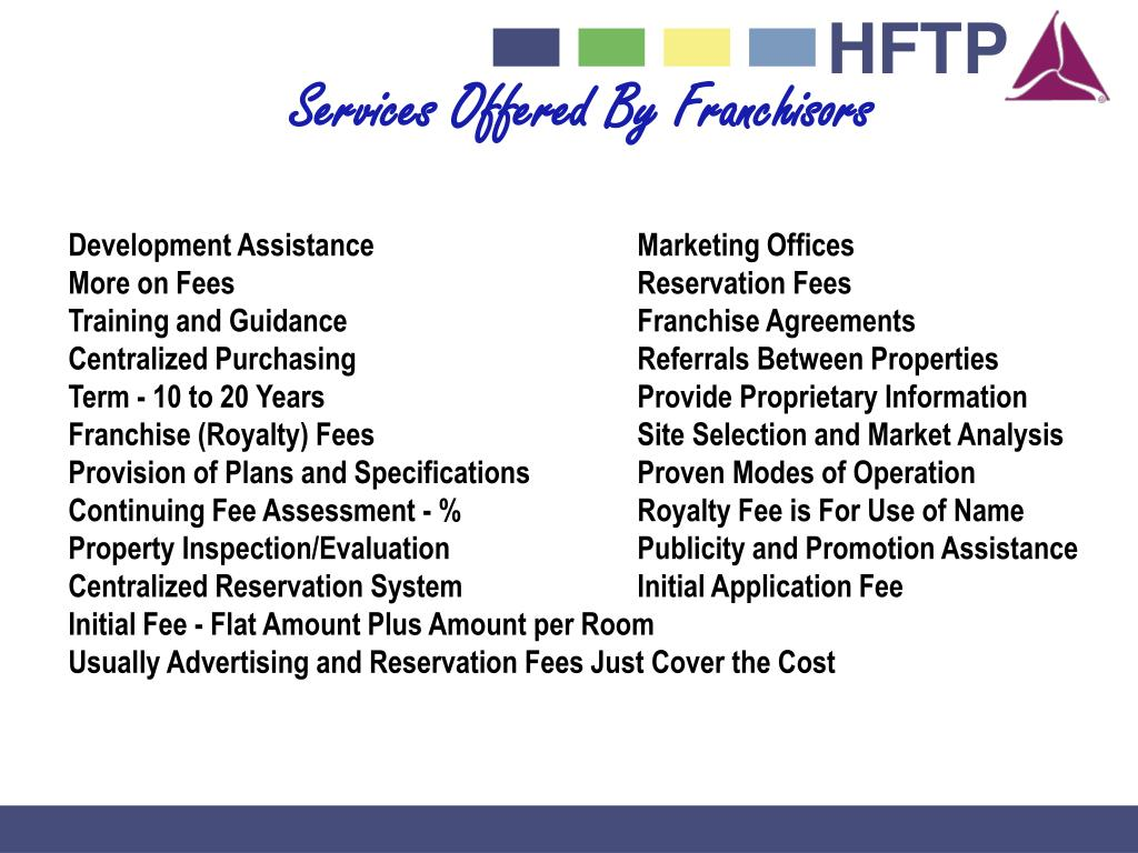 Services Offered By Franchisors