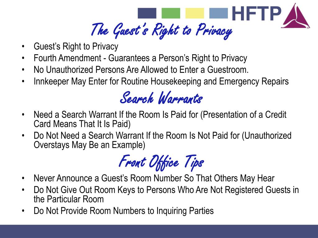 The Guest's Right to Privacy