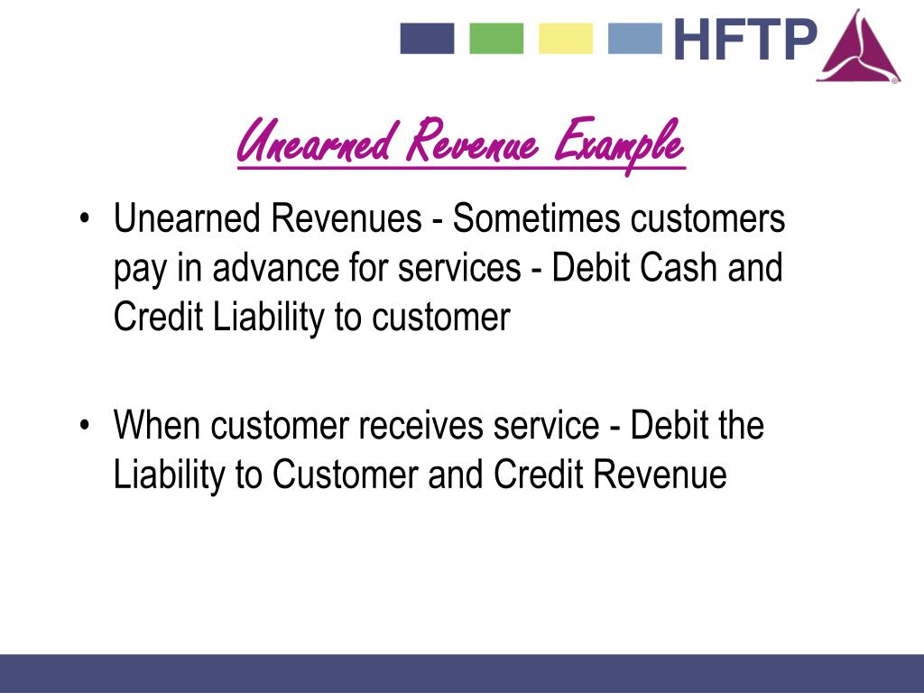 Unearned Revenue Example