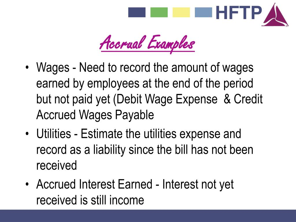 Accrual Examples