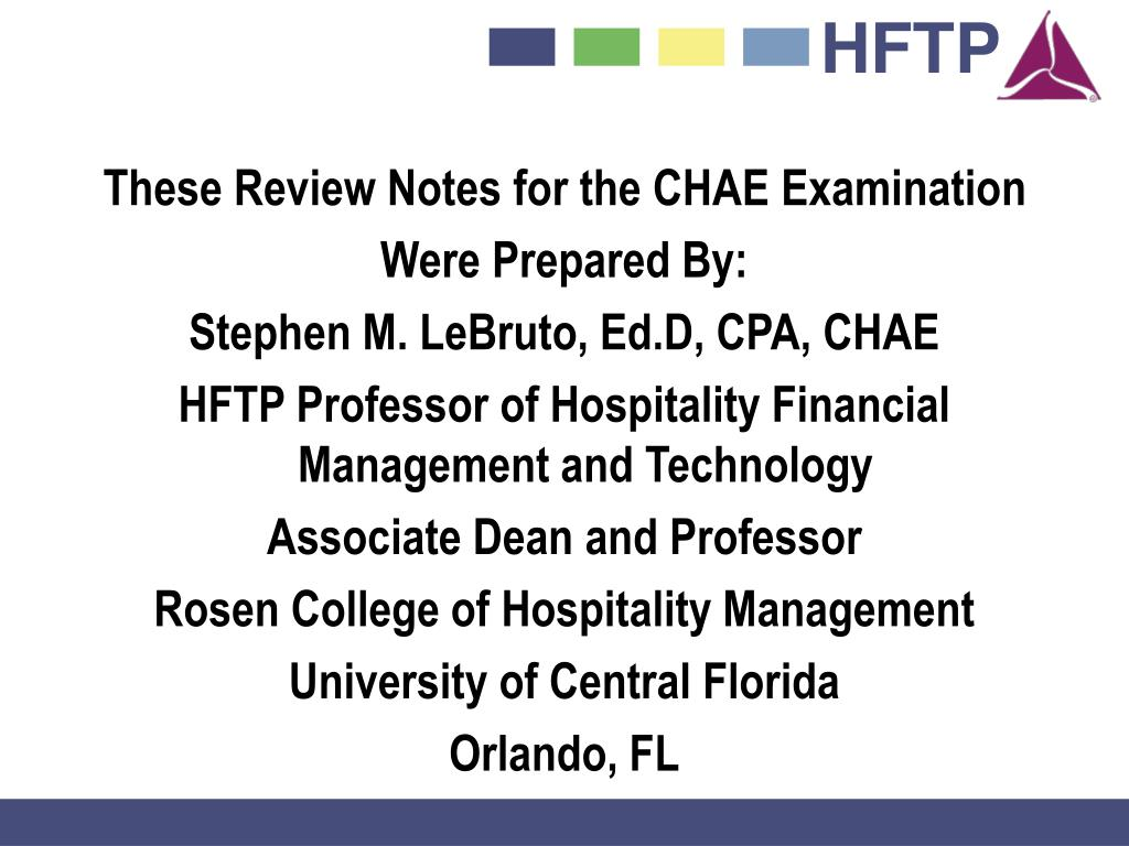 These Review Notes for the CHAE Examination