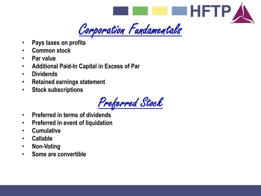Corporation Fundamentals