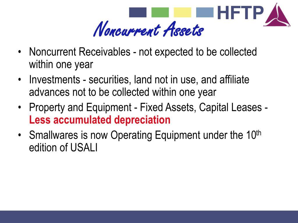 Noncurrent Assets