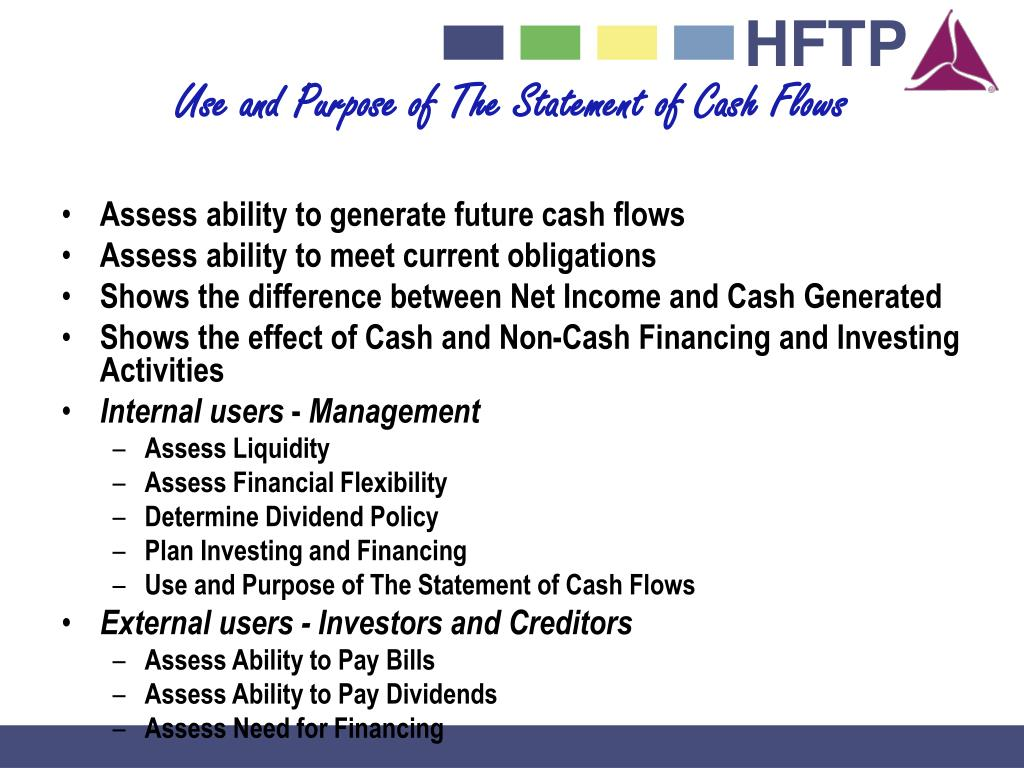 Use and Purpose of The Statement of Cash Flows