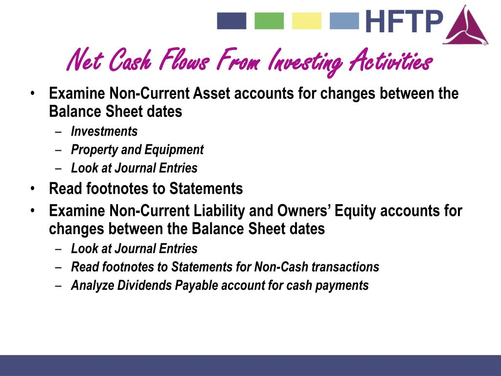 Net Cash Flows From Investing Activities