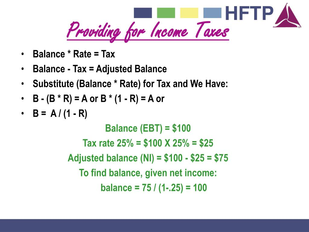 Providing for Income Taxes