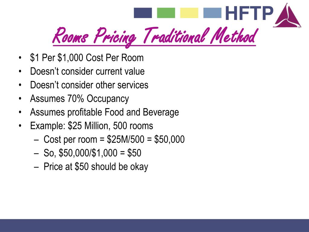 Rooms Pricing Traditional Method