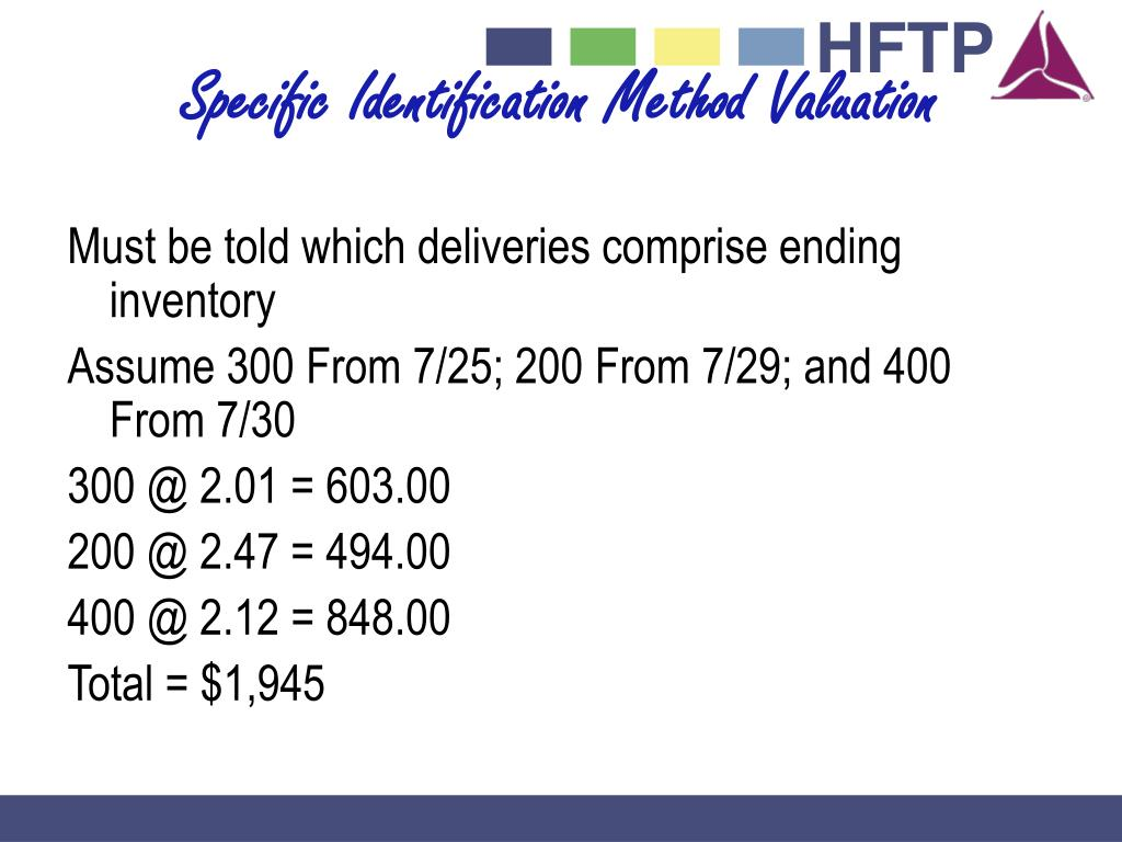 Specific Identification Method Valuation