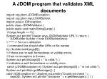a jdom program that validates xml documents
