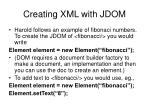 creating xml with jdom