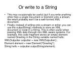 or write to a string