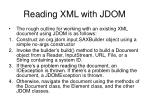 reading xml with jdom