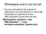 whitespace and cr can be set