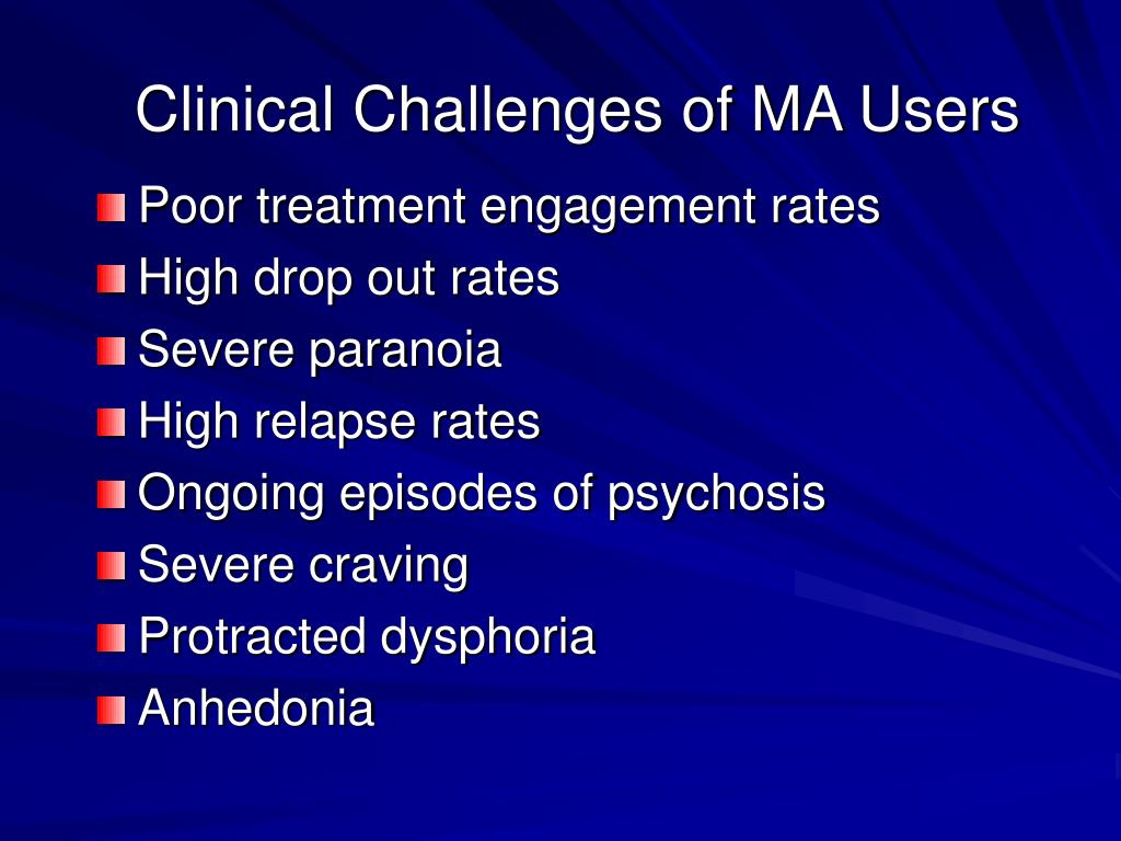 Clinical Challenges of MA Users